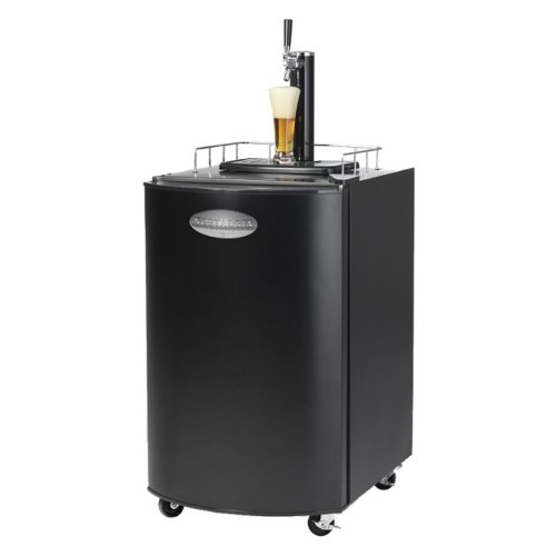 Nostalgia Electrics KRS2100 Kegorator Beer Keg Fridge, Black