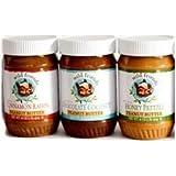 Peanut butter 3 pack: honey pretzel + cinnamon raisin + chocolate coconut