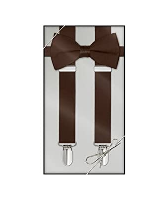 BabeMallInc® Awesome Unisex Suspenders and Matching Colors Bowtie Set Combo Gift Pack (Silver Sequins)