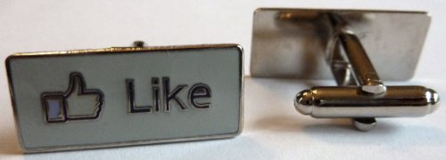 Facebook LIKE Button Social Media Network Internet Cufflink Set