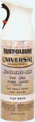 Rust-Oleum 247563 12-Ounce Spray Paint  Universal Advanced Formula, White Primer