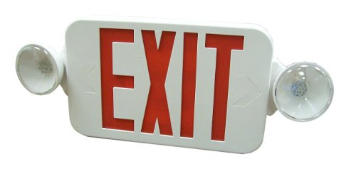 Royal Pacific RXEL32RW Exit Sign and Two Head Emergency Light Combo