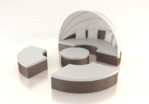 Set arredo esterno giardino composto da tavolo divano for Divano rotondo