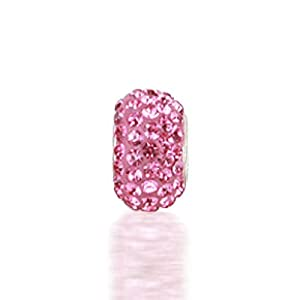 Bling Jewelry 925 Sterling Silver Pink Swarovski Crystal Bead Pandora Chamilia Beads Compatible