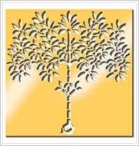 Anna Griffin Brass Stencil - Tree