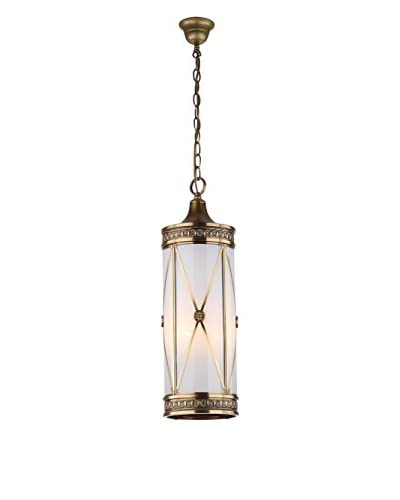 Safavieh Darby Small Pendant Light, White/Brass