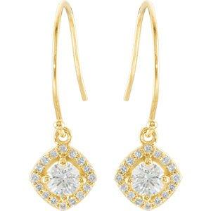 Genuine IceCarats Designer Jewelry Gift 14K Yellow Gold 3/4Ctw Diamond Earrings. Pair 3/4 Ct Tw Diamond Earrings 3/4Ctw Diamond Earrings In 14K Yellow Gold