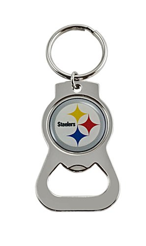 Pittsburgh Steelers NFL Football Metal Bottle Opener Key Chain from AmincoINT
