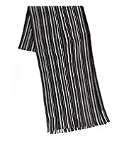 Multi-Striped Fringe Scarf