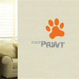 Foot Print Quote Dog Paw Nursery Wall Sticker front-654320