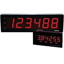 Red Lion LPAX Red Large PAX LED Segment Display for Digital MPAX Modules, 6 Digits, 1.5&#034; Character Size, 85-250 VAC, 50/60 Hz