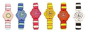 Wooden Bracelet Watch x 6 assorted designs party bag filler