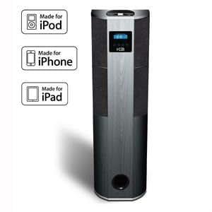 H&B IP 600i Tower Station d'accueil avec enceinte colonne pour iPhone/iPod Touch/iPad 500 W Noir