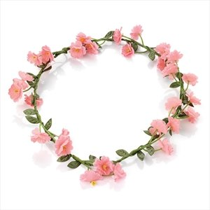 Delicate and feminine Pink Flower crown ,perfect Bridesmaid , Festival , Party Or any other special occasion .