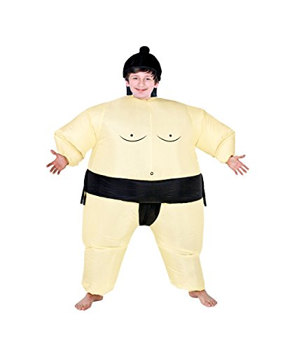 Inflatable Air Blown Sumo Wrestler Costume for Boys Battery Operated