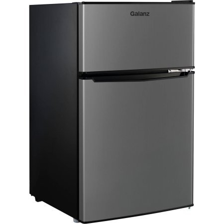 Galanz 3.1cu ft Stainless Steel Look Double Door Compact Refrigerator (Fridge Lock With Timer compare prices)
