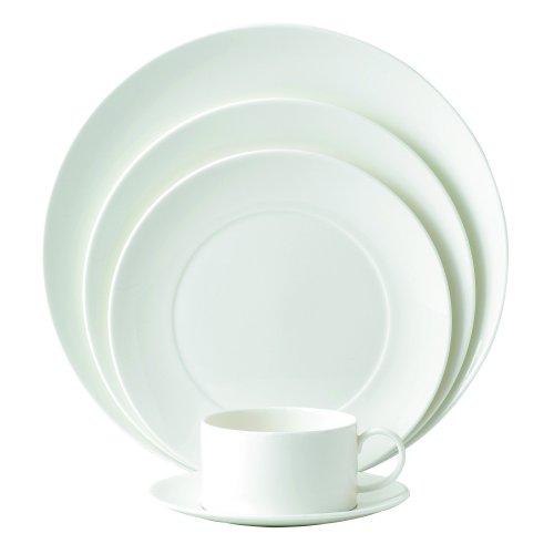 Wedgwood Ashlar 5-Piece Round Place Setting, White