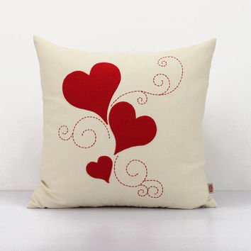 Valentines Day Heart Pillow Covers