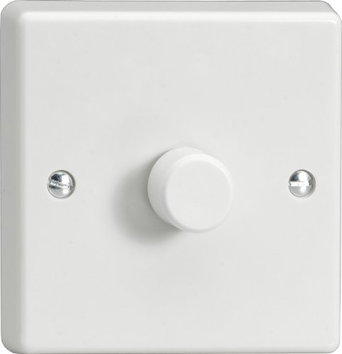 1GANG 2 WAY 1000W DIMMER SWITCH WHITE PLASTIC