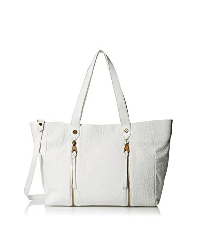 Joelle Hawkens Women's Chryssie Soft Croco Tote, Ice
