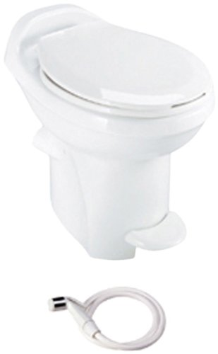 Thetford 34431 Aqua Magic Style Plus White High China Bowl with Water Saver