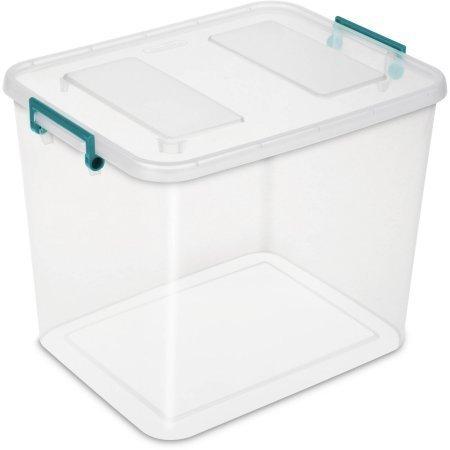 Case of 4 Modular Latch Box 24 Quart In Teal Sachet (Sterilite Modular System compare prices)
