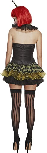 Fever-Womens-Creepy-Zombie-Clown-with-Dress-Hat-Cuffs-and-Collar