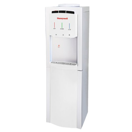 Honeywell HWB1033W Cabinet Freestanding Hot, Cold & Room Water Dispenser with Stainless Steel Tank to help improve water taste and avoid corrosion, White (Water Filter Cooler For Office compare prices)