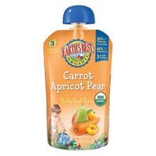 Earth'S Best Pear Carrot Apricot 3Rd Puree (2X6X4.2Oz) front-970391