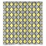img - for Yellow Gray Black Moroccan Trellis Latticework Shower Curtains,Polyester Waterproof,66