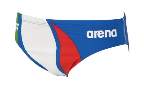Arena Extension Line Brief Costume Piscina Uomo, Collezione Italia per la Federazione Italiana Nuoto (FIN), Blu, 95