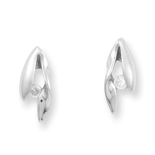Sterling Silver White Ice Diamond Earrings. Comes in a lovely Gift Box