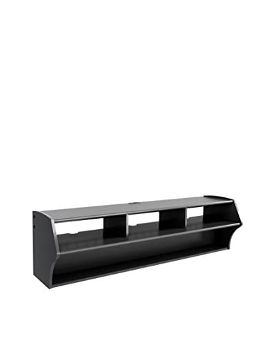 Prepac Altus Plus 58″ Floating TV Stand, Black