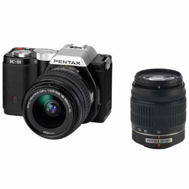 Pentax-15274-16-MP-Mirrorless-Body-Design-Camera-with-DA-L-18-55mm-and-50-200mm-Lenses-Black