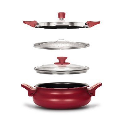Pigeon All In One Super Cooker - Red, 5 Litres (Pigeon Induction compare prices)