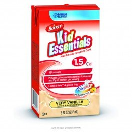 Boost® Kid Essentials 1.5-Flavor Very Vanilla Calories 355 / 237 Ml (8 Fl Oz) Packaging 8 Fl Oz Tetra Brik - Case Of 27
