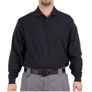 5.11 #72049 Performance Long Sleeve Polo Shirt (Black, Xx-Large)