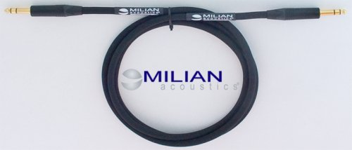"Milian Acoustics 6 Ft. 1/4"" Trs Plug Premium Stereo Balanced Ofc Patch Interconnect Cable"