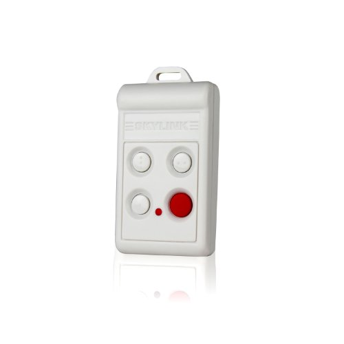 Skylink 4B-434W Security Keychain Hand Held Remote Control Transmitter | Affordable, Easy to program DIY Accessory for SC Series Systems.