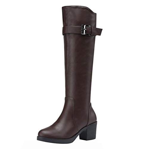 fq-real-women-fashion-platform-pu-vamp-belt-and-buckle-knee-high-long-boot-shoes5-uk-brown