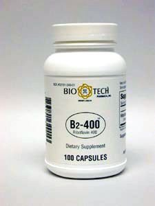 Bio-Tech Vitamin B2-400, Riboflavin 400 mg, 100 capsules, Tiny soft and easy to swallow by Bio-Tech