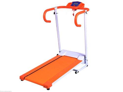 HPD 500W Folding Electric Treadmill Portable Motorized Running Machine (Orange)