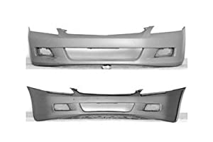 PAINTED FRONT BUMPER COVER HONDA ACCORD 2006-2007 SEDAN - Arctic Blue Metallic - B-507P