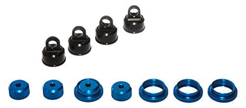 LRP elettronico 124512 - Tappo scossa alluminio up / down con dado zigrinato - S10 Twister, 4 pezzi
