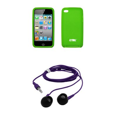 Apple Ipod Touch 4 Premium Neon Green Silicone Gel Skin Cover Case 35mm