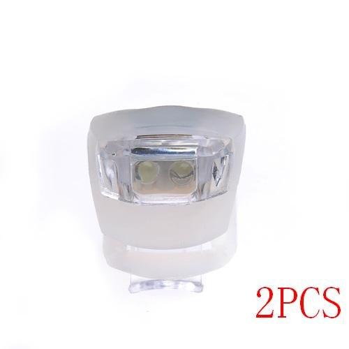 {Factory Direct Sale} 2Pcs/Set Waterproof Super Frog Led Bicycle Bike Head Light Headlamp Headlight -- White