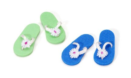 Miniature - Flip Flops - 1 inch - 2 pieces, Assorted Colors - 1