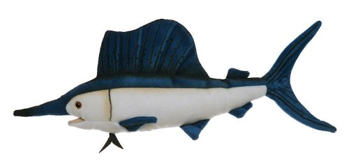 "Sailfish 10"" Stuffed Plush Animal - Cabin Critters Saltwater Fish Collection - 1"