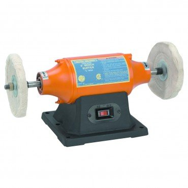 6 inch Benchtop Buffer Heavy Duty 1/2 HP; Includes two buffing wheels (Grinder Buffer compare prices)