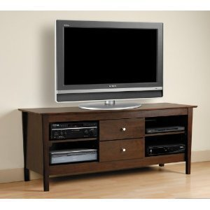 Cheap Plasma LCD TV Media Stand Contemporary Style in Espresso Finish (AZ00-56689×35918)